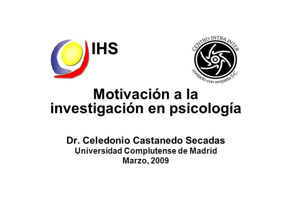 IHS Motivación a la investigación en psicología