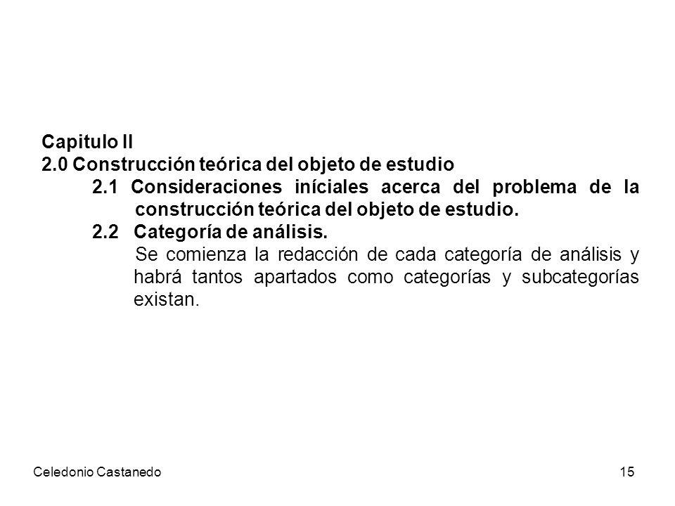 2.0 Construcción teórica del objeto de estudio