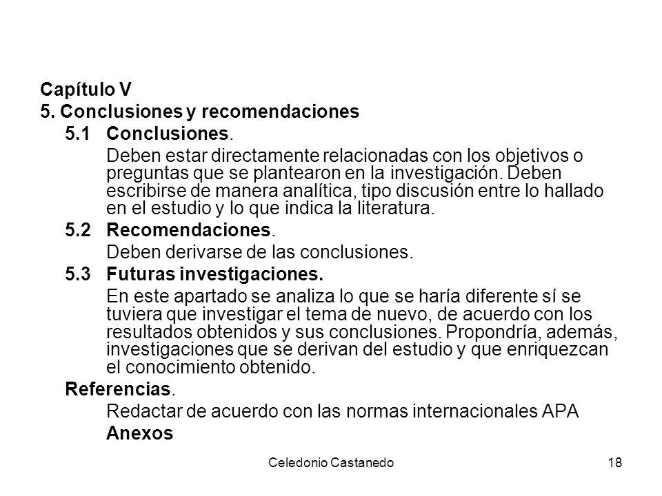 5. Conclusiones y recomendaciones 5.1 Conclusiones.