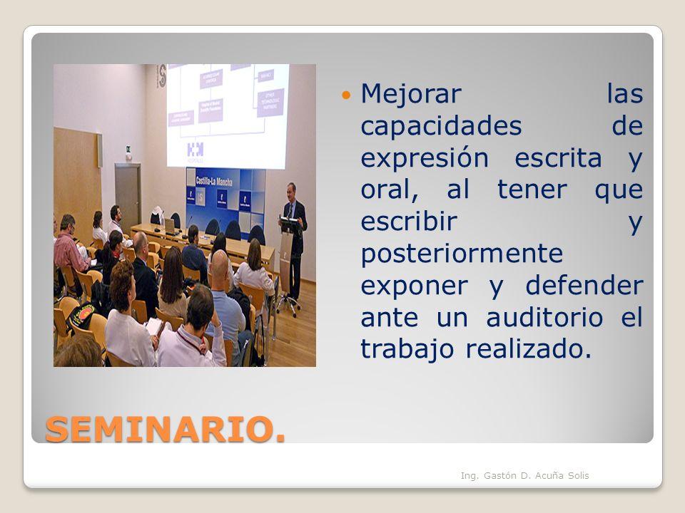 Mejorar las capacidades de expresión escrita y oral, al tener que escribir y posteriormente exponer y defender ante un auditorio el trabajo realizado.