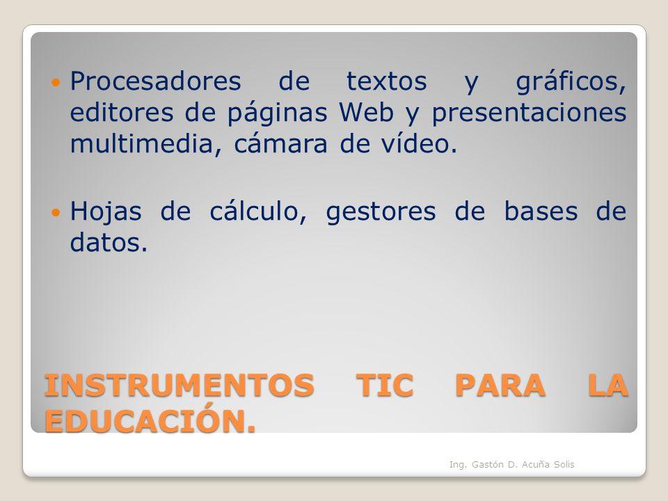 INSTRUMENTOS TIC PARA LA EDUCACIÓN.