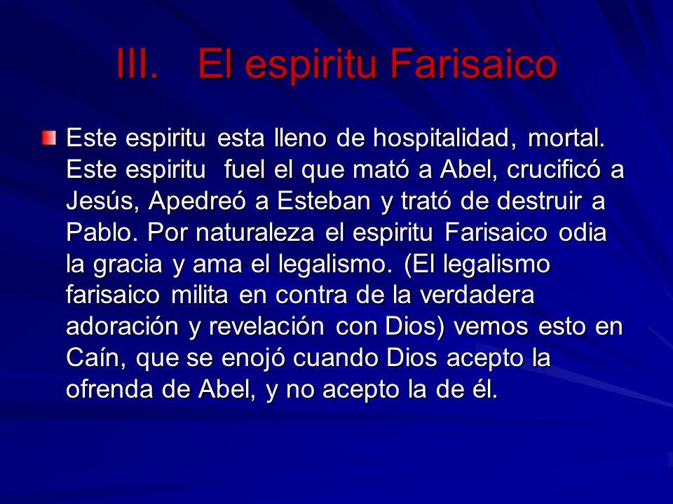 El espiritu Farisaico