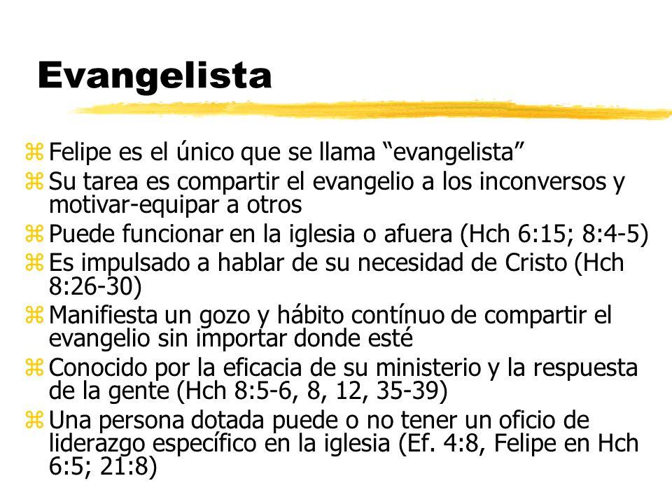 Evangelista Felipe es el único que se llama evangelista