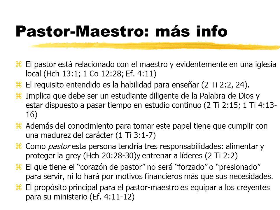 Pastor-Maestro: más info