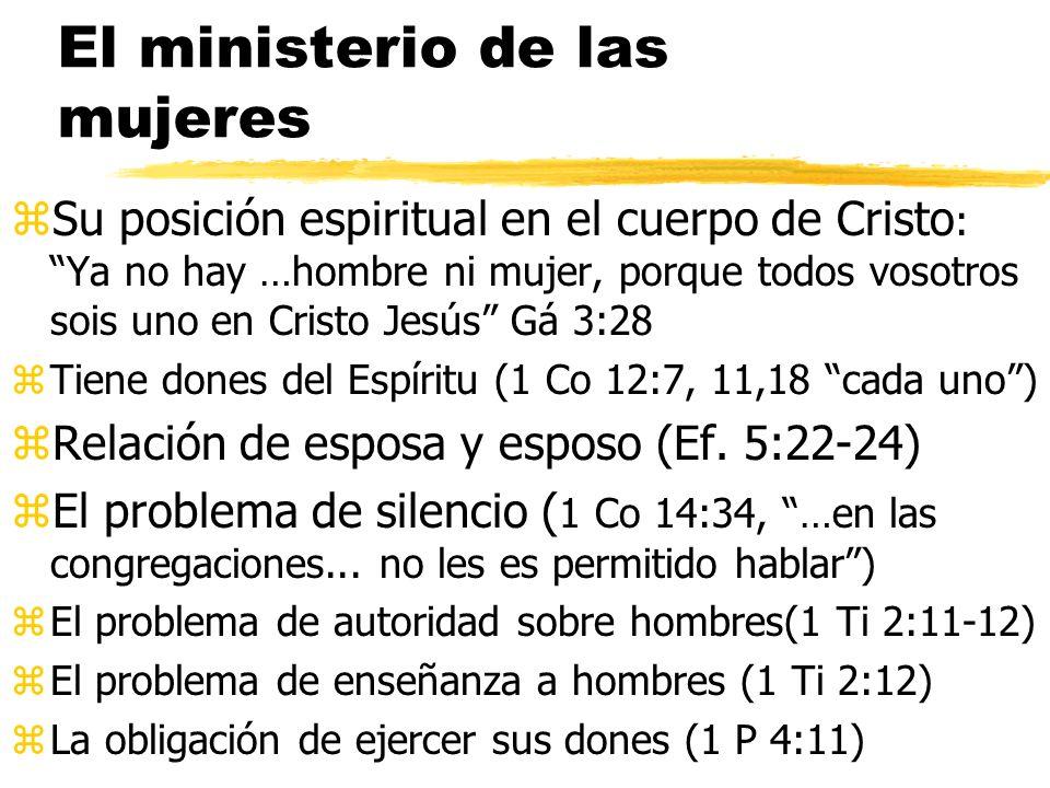 El ministerio de las mujeres