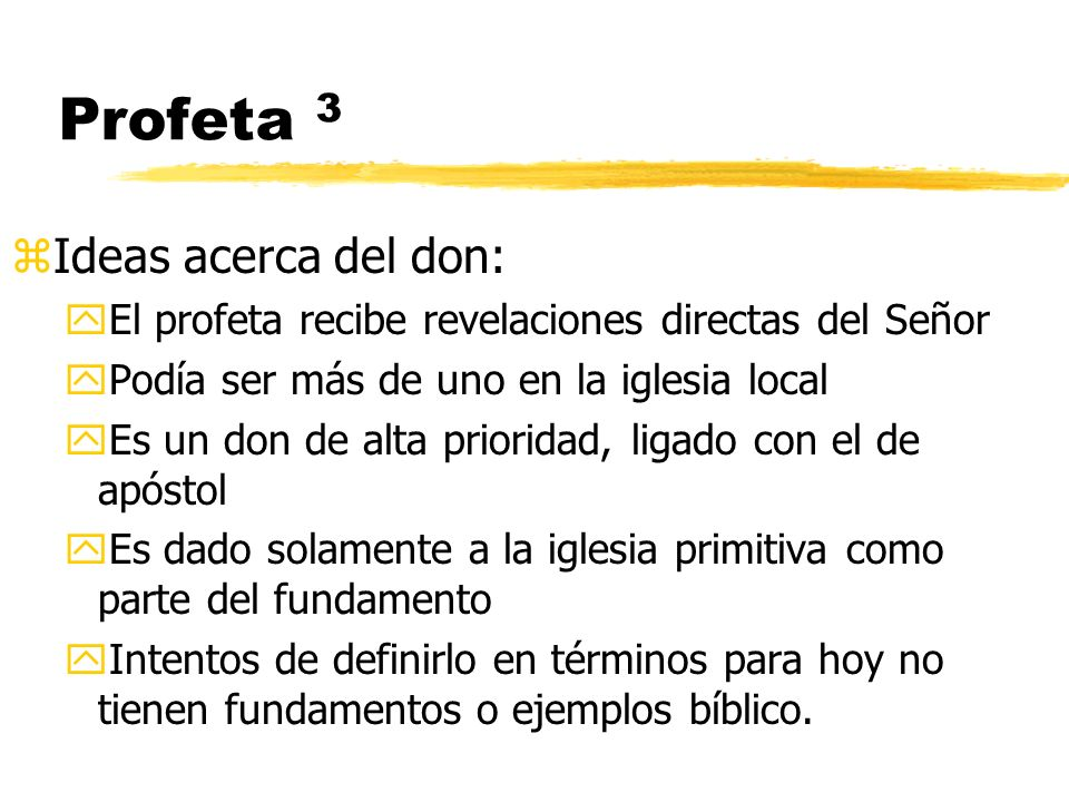 Profeta 3 Ideas acerca del don: