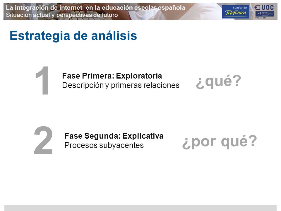 1 2 ¿qué ¿por qué Estrategia de análisis Fase Primera: Exploratoria