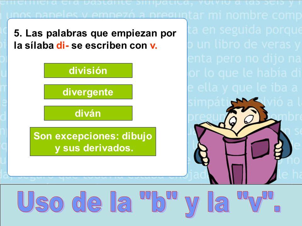 """Silaba Dibujo: Uso De La """"b"""" Y La """"v"""".."""