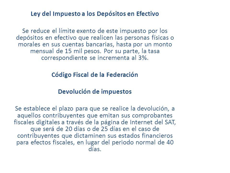 Ley del Impuesto a los Depósitos en Efectivo