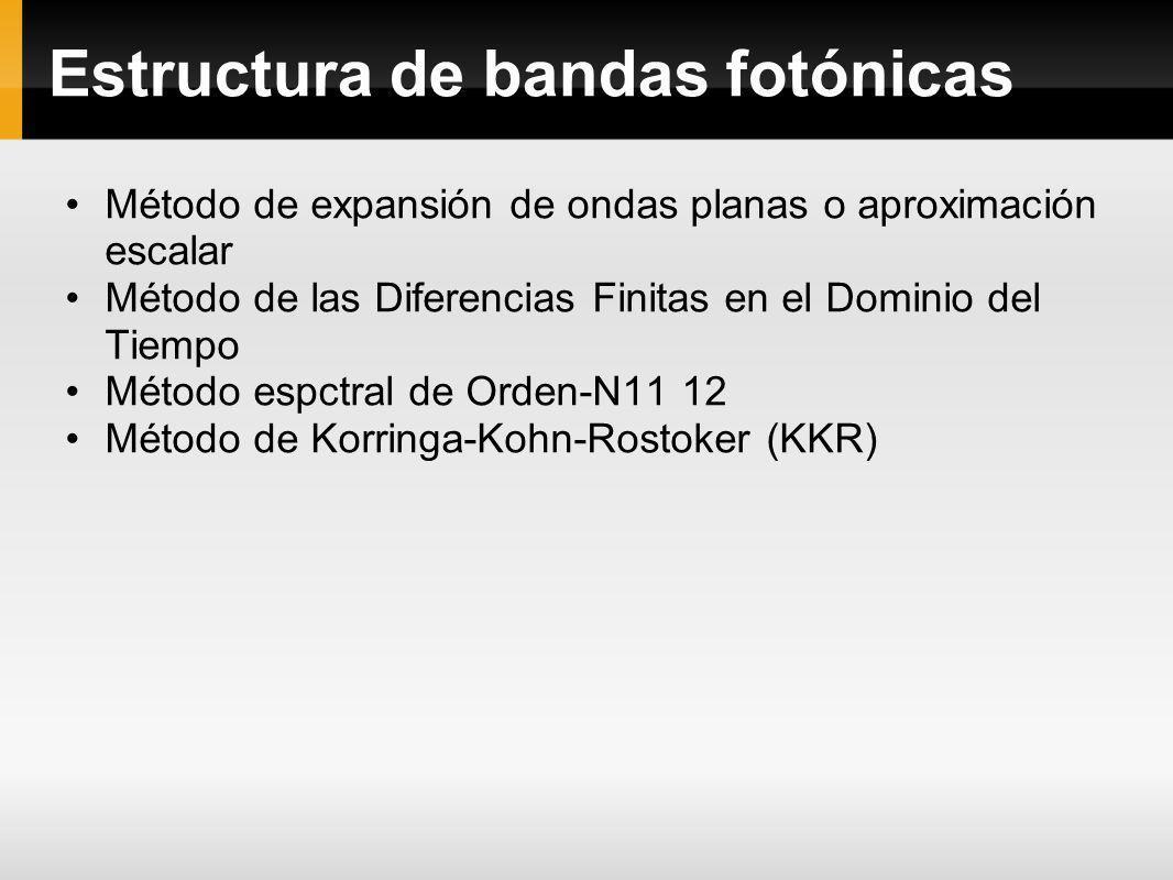 Estructura de bandas fotónicas