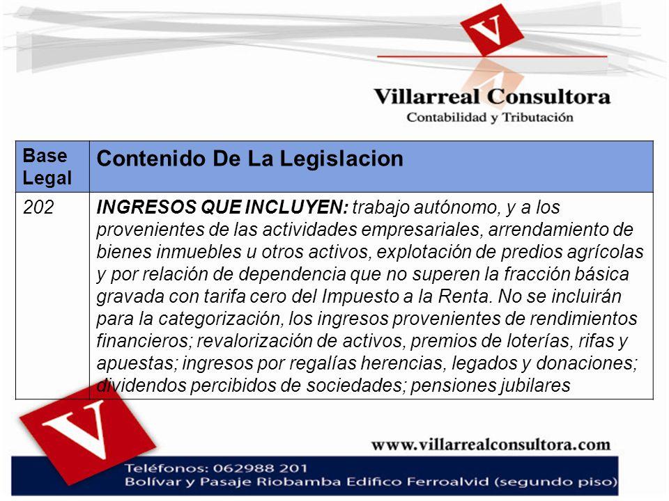 Contenido De La Legislacion