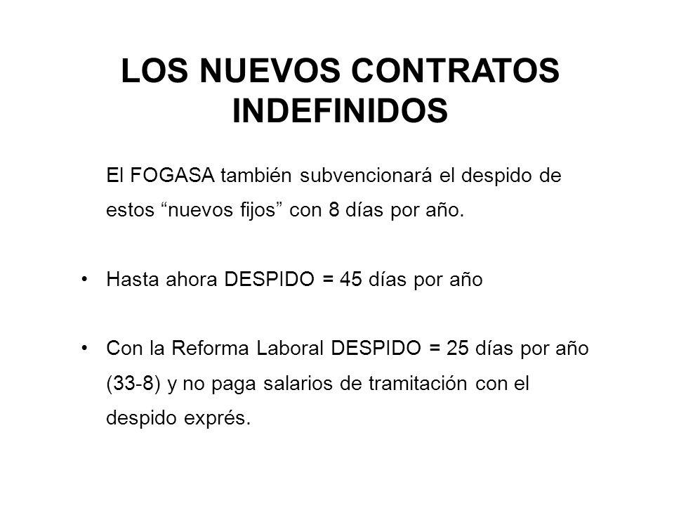 LOS NUEVOS CONTRATOS INDEFINIDOS