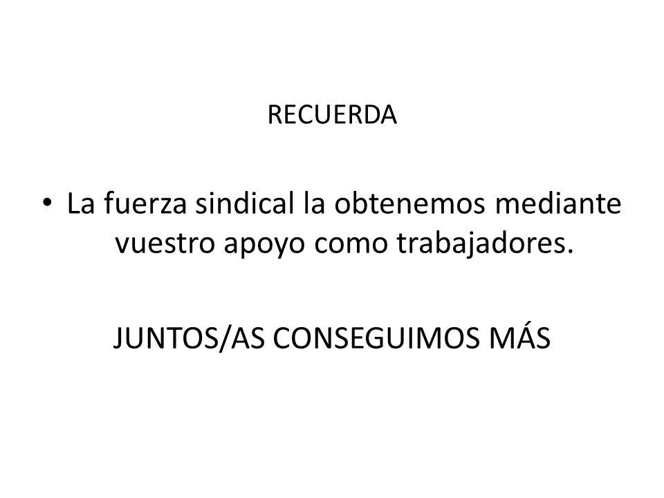 JUNTOS/AS CONSEGUIMOS MÁS