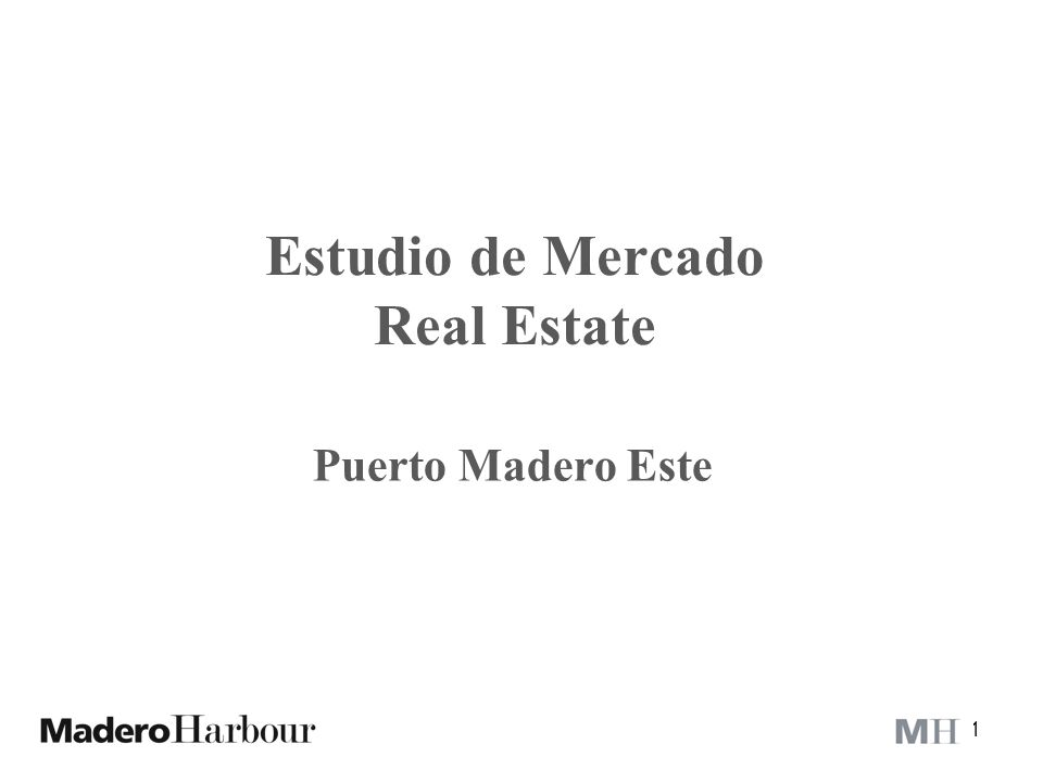 Estudio de Mercado Real Estate