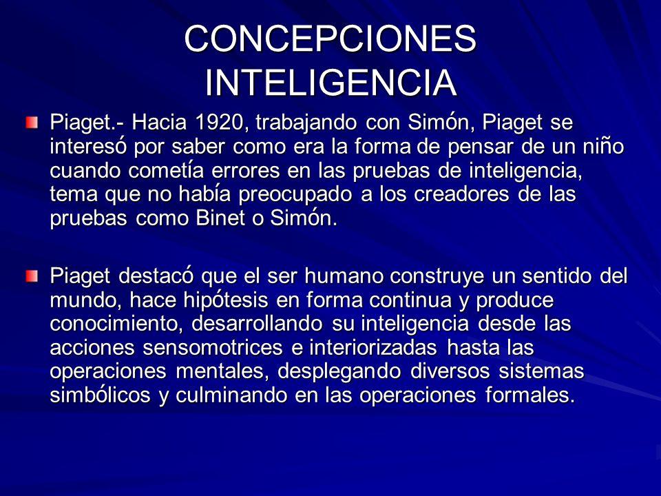 CONCEPCIONES INTELIGENCIA