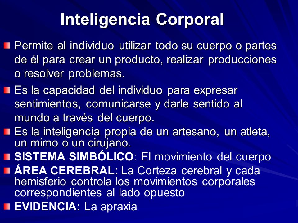 Inteligencia Corporal