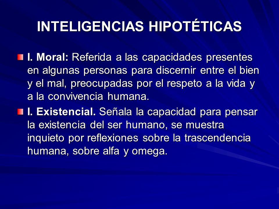 INTELIGENCIAS HIPOTÉTICAS