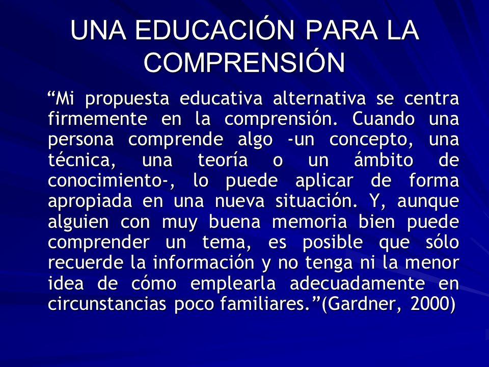 UNA EDUCACIÓN PARA LA COMPRENSIÓN