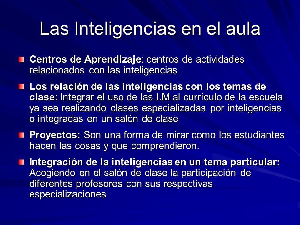 Las Inteligencias en el aula