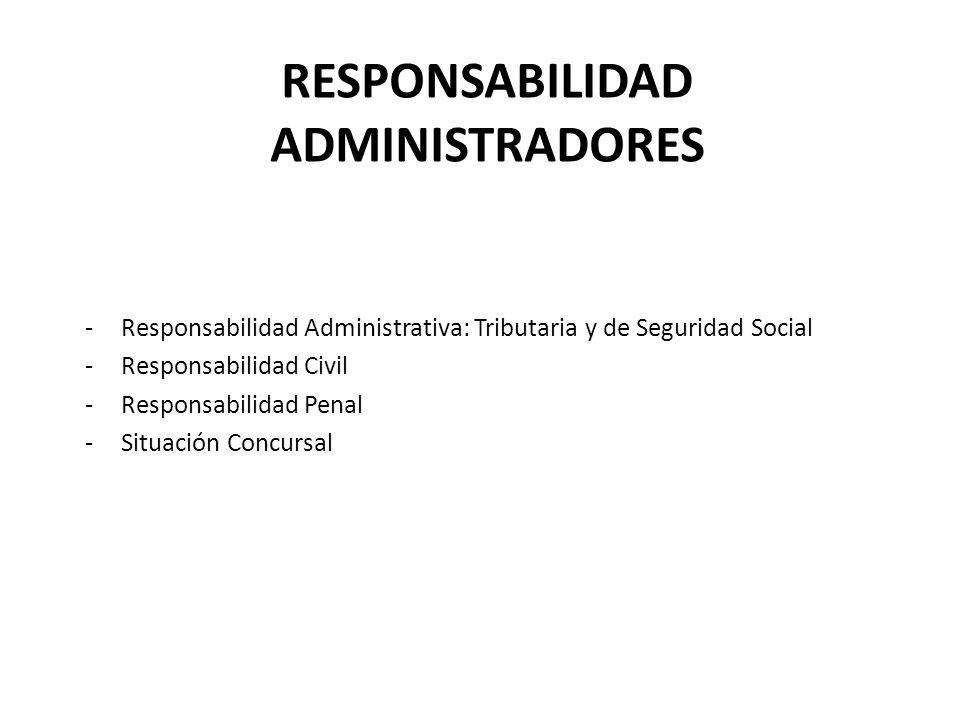 RESPONSABILIDAD ADMINISTRADORES