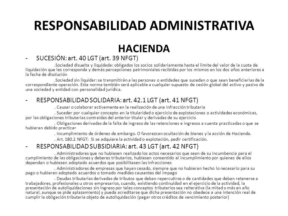 Responsabilidad Administrativa HACIENDA