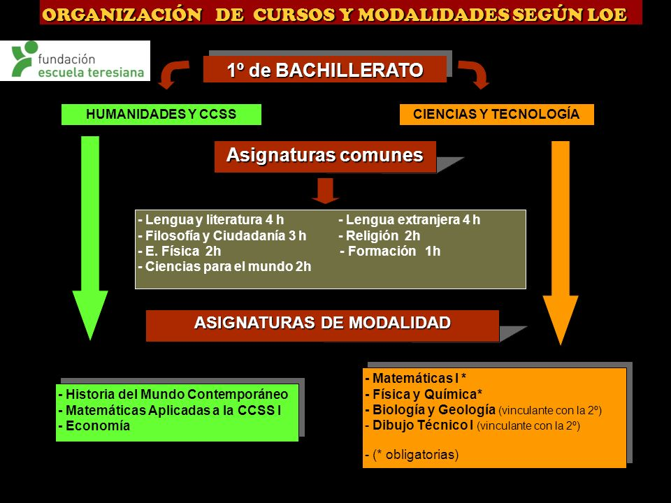 ASIGNATURAS DE MODALIDAD