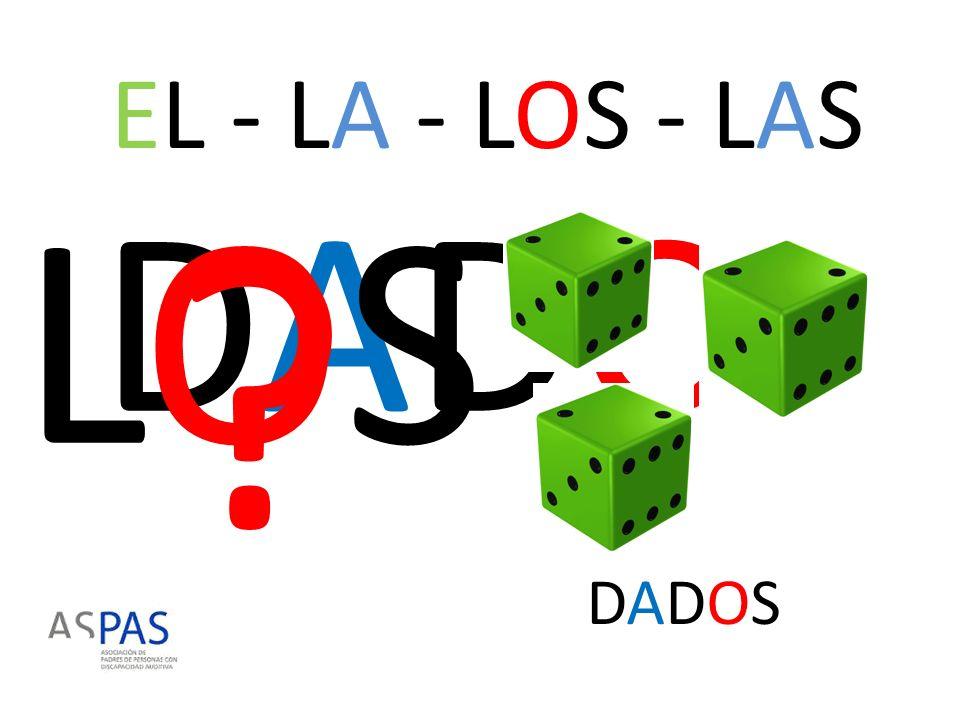 EL - LA - LOS - LAS LOS DADOS DADOS