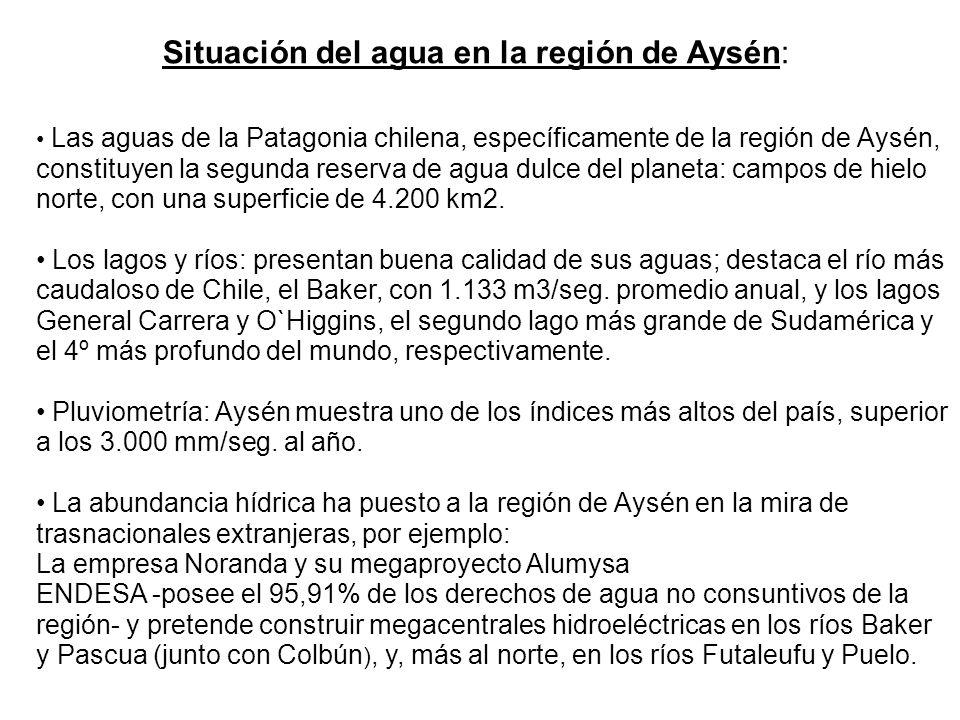 Situación del agua en la región de Aysén:
