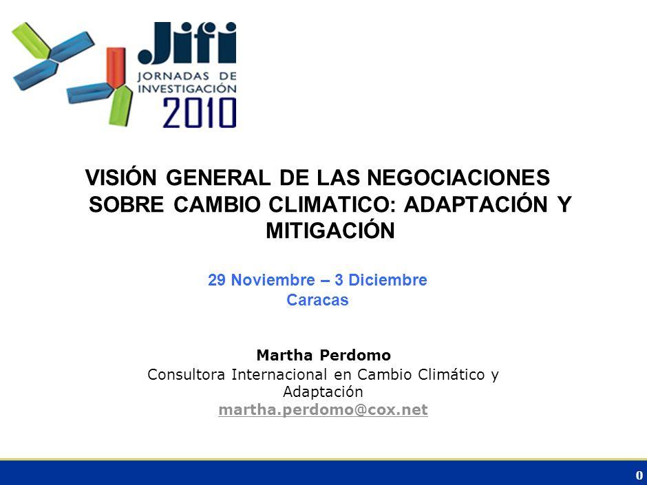 Consultora Internacional en Cambio Climático y Adaptación