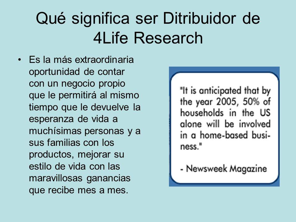 Qué significa ser Ditribuidor de 4Life Research