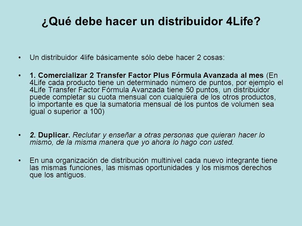 ¿Qué debe hacer un distribuidor 4Life