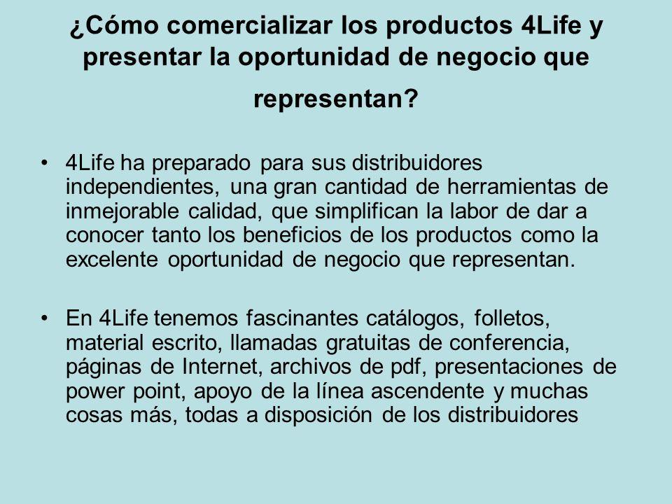 ¿Cómo comercializar los productos 4Life y presentar la oportunidad de negocio que representan