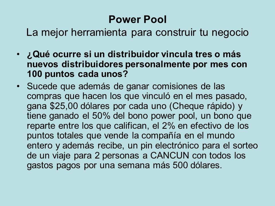 Power Pool La mejor herramienta para construir tu negocio