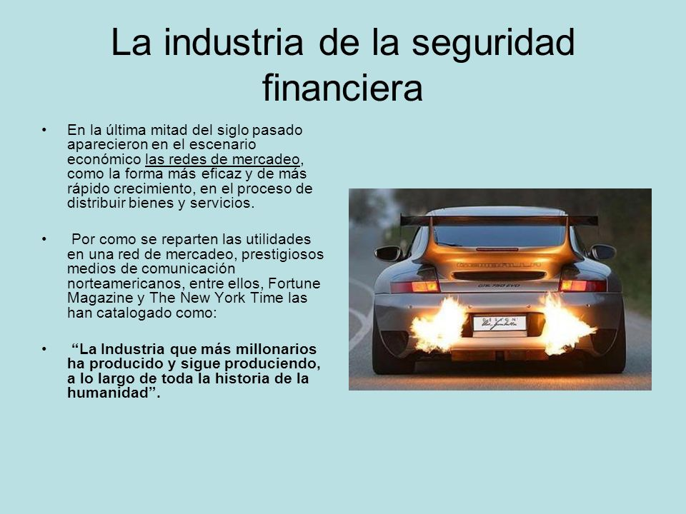La industria de la seguridad financiera