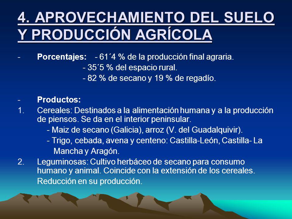 4. APROVECHAMIENTO DEL SUELO Y PRODUCCIÓN AGRÍCOLA