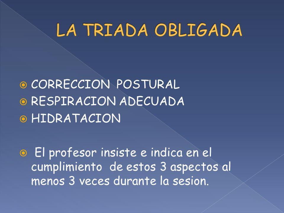 LA TRIADA OBLIGADA CORRECCION POSTURAL RESPIRACION ADECUADA