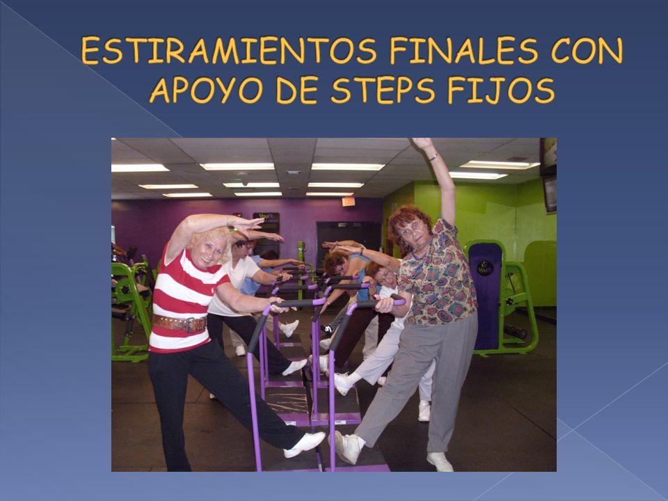 ESTIRAMIENTOS FINALES CON APOYO DE STEPS FIJOS