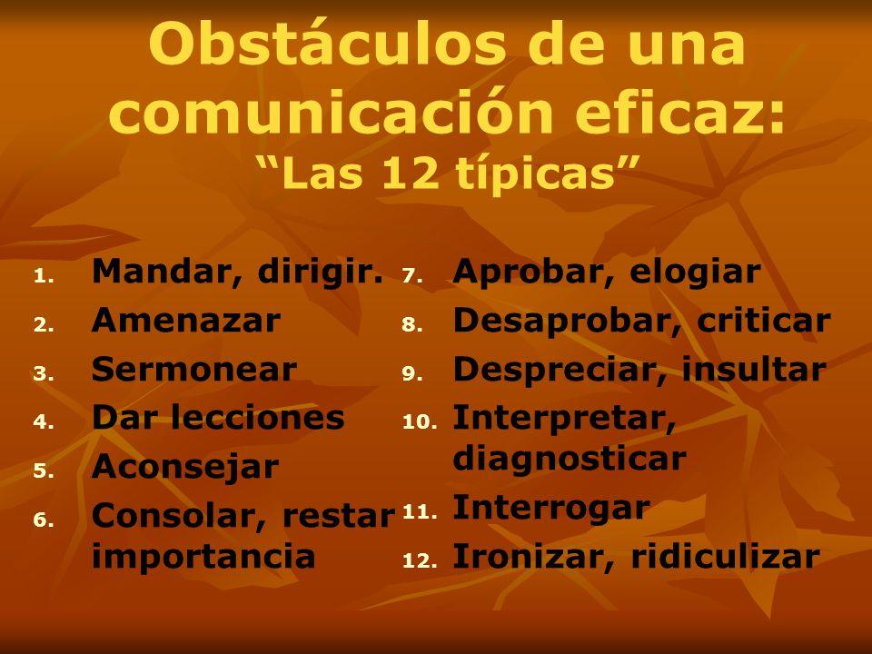 Obstáculos de una comunicación eficaz: Las 12 típicas