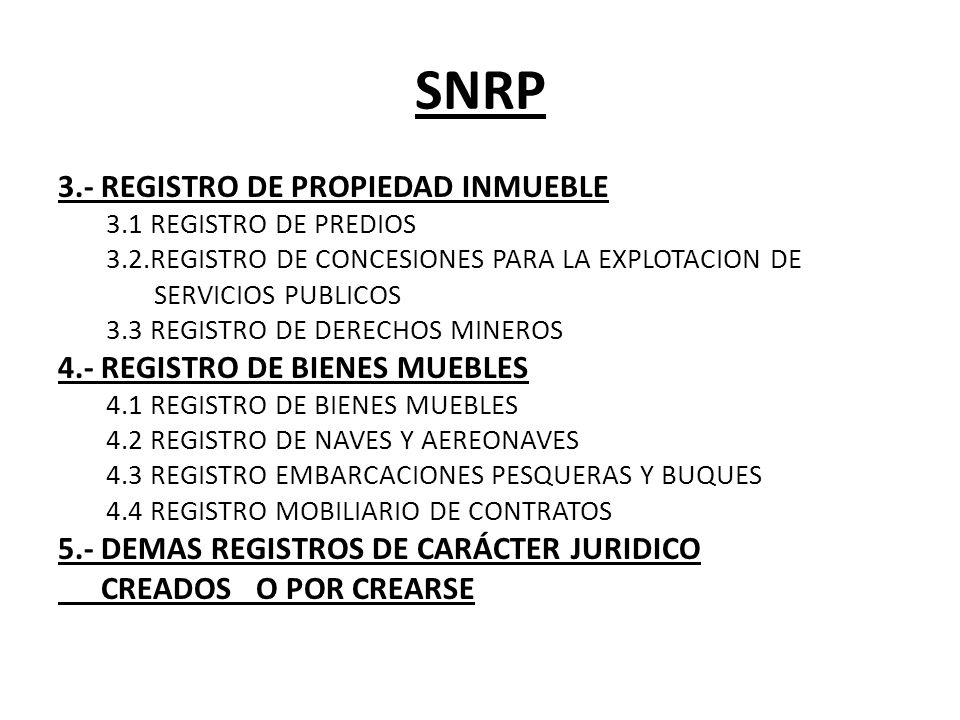 Derecho registral y notarial ppt descargar for Registro de bienes muebles de navarra