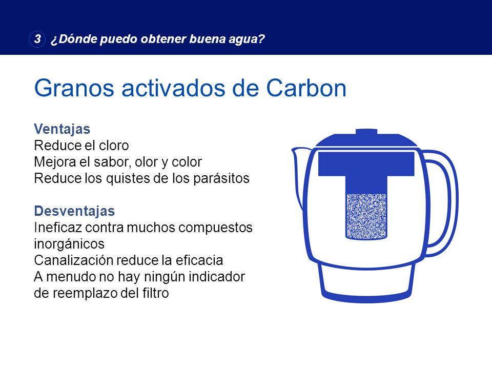 Granos activados de Carbon