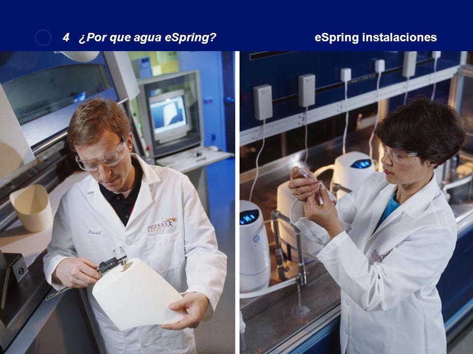 4 ¿Por que agua eSpring eSpring instalaciones