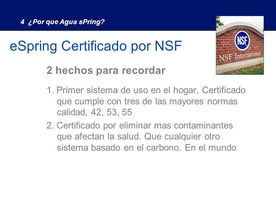 eSpring Certificado por NSF