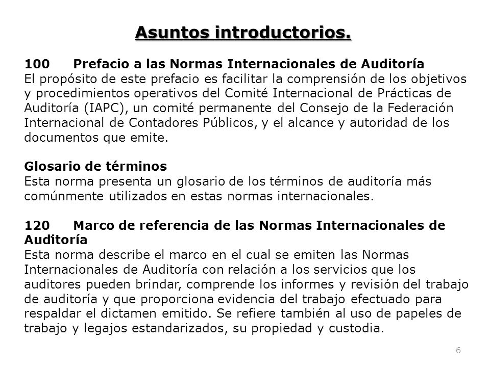 Asuntos introductorios.