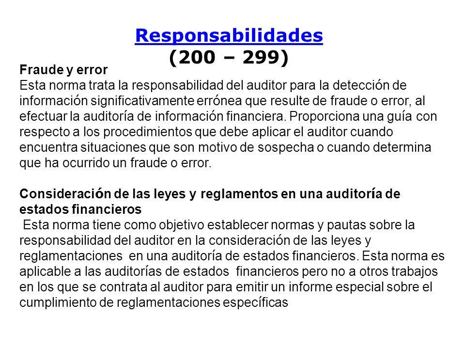 Responsabilidades (200 – 299)