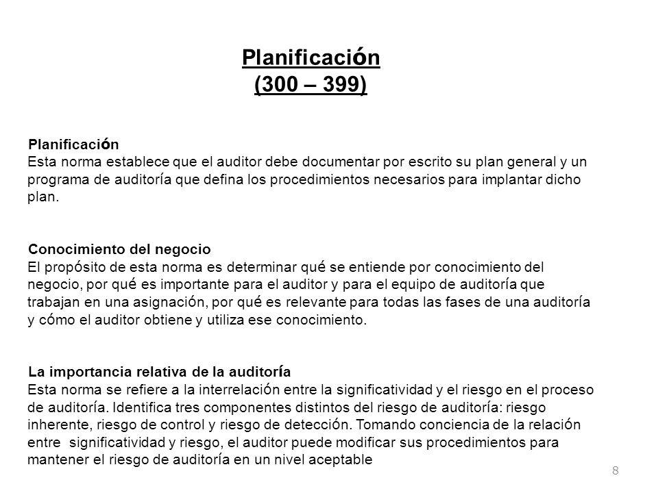 Planificación (300 – 399)
