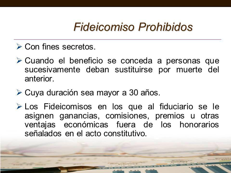 Fideicomiso Prohibidos