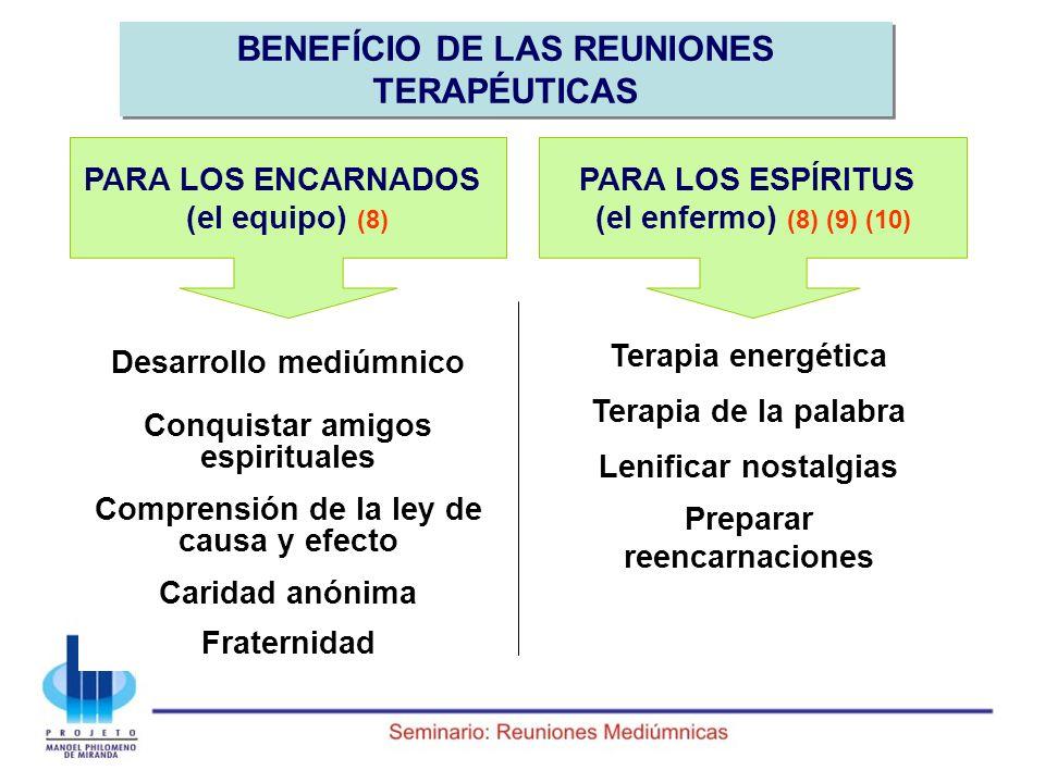 BENEFÍCIO DE LAS REUNIONES TERAPÉUTICAS
