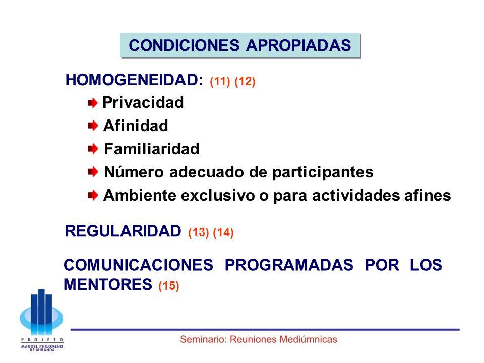 CONDICIONES APROPIADAS