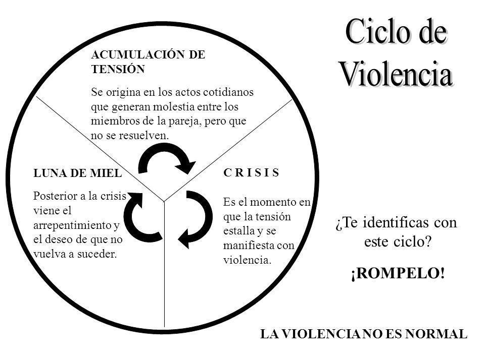 LA VIOLENCIA NO ES NORMAL