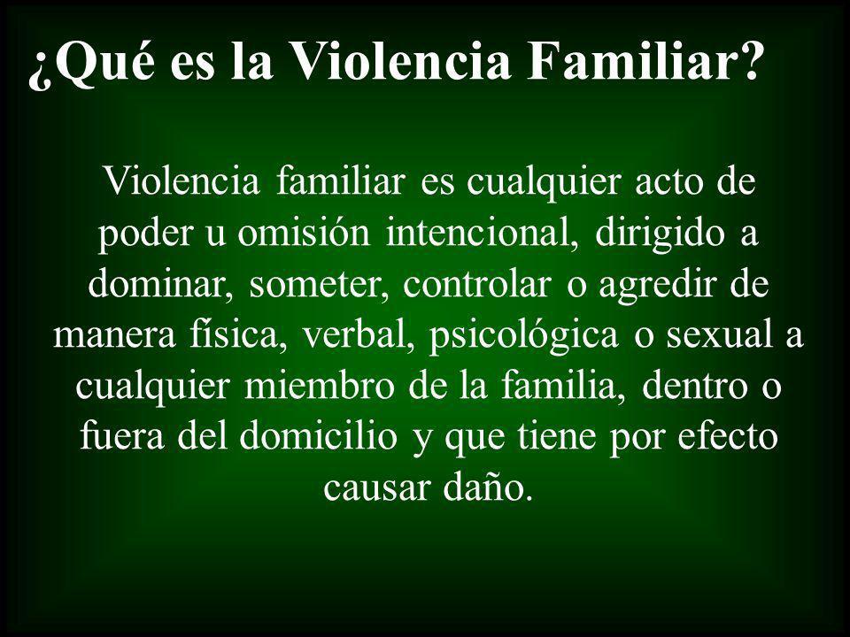 ¿Qué es la Violencia Familiar